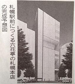 「六花亭札幌本店」完成予想図