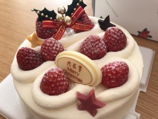 六花亭のクリスマスケーキ「生クリーム15cm」
