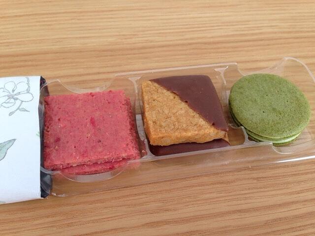 3種類のクッキーが入っています
