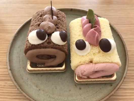 チョコ味(右)とストロベリー味(左)